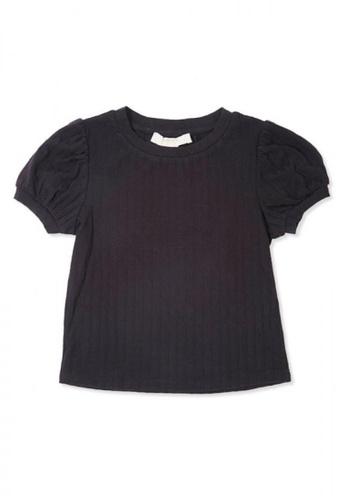 FOREVER 21 black Puff-Sleeve Top 71A67KA603AC82GS_1