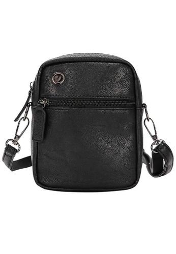 Lara black Plain Zipper Pocket Cross Body Bag - Black B3E5EACBCDA414GS_1