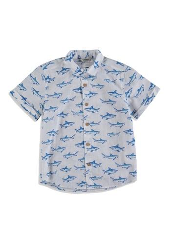 LC Waikiki white Boy Patterned Poplin Shirt 77102KA8280F01GS_1