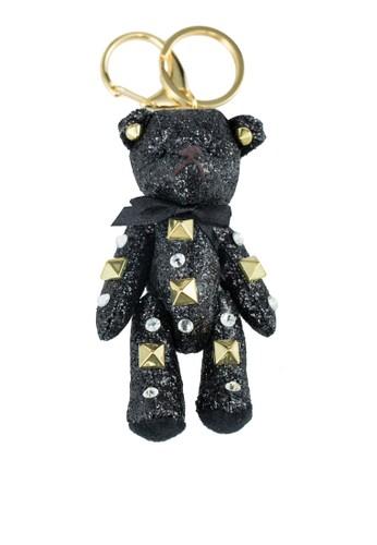 鉚釘飾泰迪熊鑰匙圈, 飾品配esprit retail件, 飾品配件