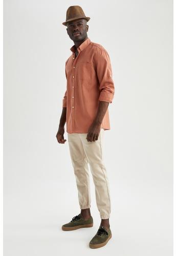 DeFacto pink Long Sleeve Cotton Shirt 9C2D6AAA98D137GS_1