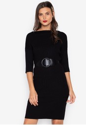 Chloe Edit black Midi Knitted Dress CH672AA0JS5FPH_1
