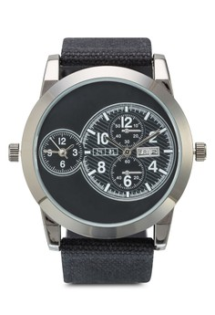 Men's Analogue Watch With Canvas Strap