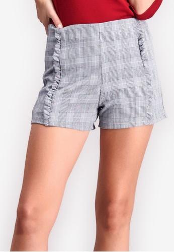 48b073ce2b5e0 Shop BENCH Checkered High Waist Shorts Online on ZALORA Philippines