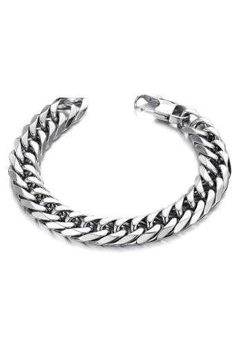 YOUNIQ silver YOUNIQ Classic Titanium Steel Bracelet for Men (Silver) 6E364AC4E18594GS_1