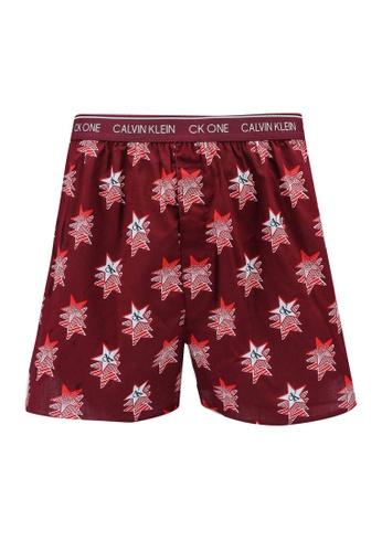 Calvin Klein red One Woven Boxers - Calvin Klein Underwear 7CF6FUSB1595D0GS_1