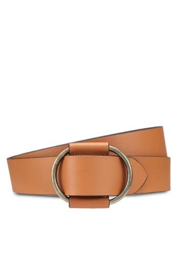 Pieces brown Pilja Leather Jeans Belt BD24BAC4C529B3GS_1