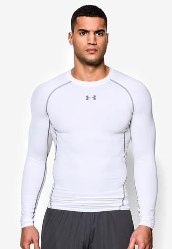 Under Armour white Men's UA HeatGear® Armour Long Sleeve Compression Shirt UN337AA24SLFMY_1