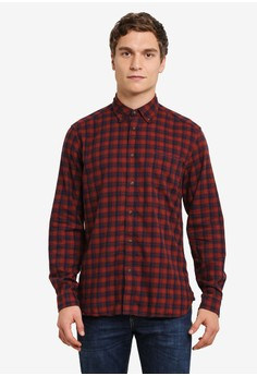 ESPRIT-Woven 長袖襯衫