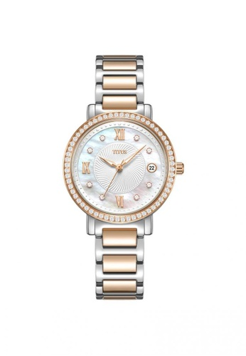 Solvil et Titus silver and gold Fair Lady Women's 3 Hands Quartz in mother of pearl dial and Two-Tone Stainless Steel Bracelet 4ACD6AC53FED76GS_1