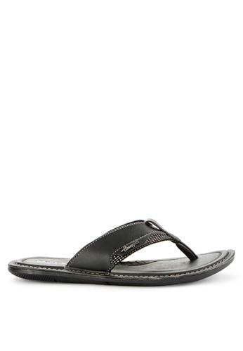 Homyped black Scuderia 01 Men Sandals D7F0ESHFD25355GS_1