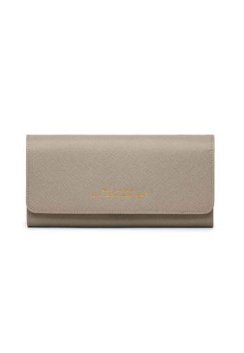Crudo Leather Craft grey Felicità Long Leather Wallet - Mystery Grey 2FA06AC1BDD0C6GS_1