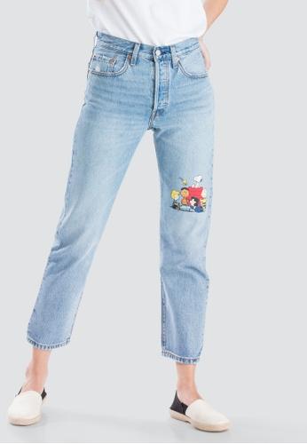 aa571998574 Levi's blue Levi's x Peanuts 501 Crop Jeans Women 36200-0044  D7858AA35F4E06GS_1
