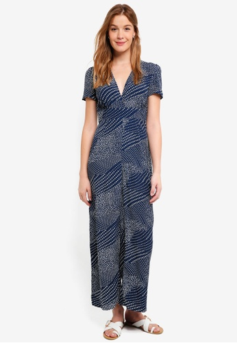 Glamorous navy Printed Placement Jumpsuit 58234AA61A9DAAGS_1