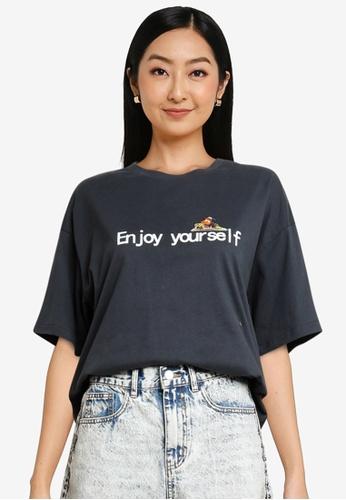 URBAN REVIVO grey Women's T-Shirt 76902AA87F9912GS_1