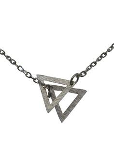 S925 Fine Silver Two Triangular Pattern Silver Rolo Chain