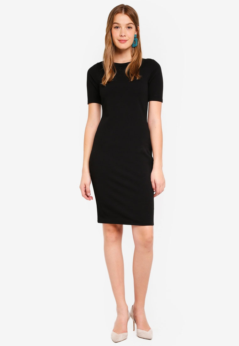 Dorothy Black Perkins Dress Neck Bodycon Slash SxXgt6W