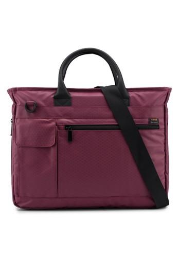 Bagstationz red Premium Nylon 2-Way Laptop Bag 763ECACF65CB30GS_1