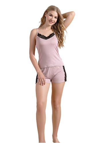 LYCKA pink LCB2174-Lady Casual Pajamas Two Pieces Set-Pink 9FC92US36252C9GS_1