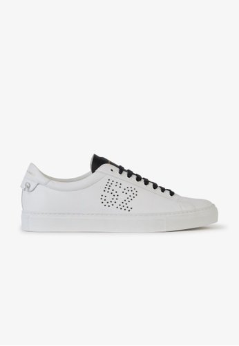 GIVENCHY white GIVENCHY 1952 PERFORATED SNEAKERS 1D6FFSH1C34C4EGS_1