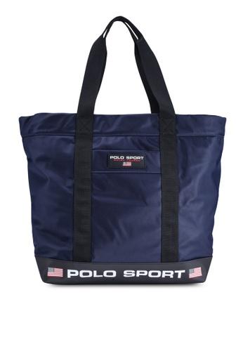 polo ralph lauren navy Polo Sports Nylon Tote E6CD9ACCD25B4FGS_1
