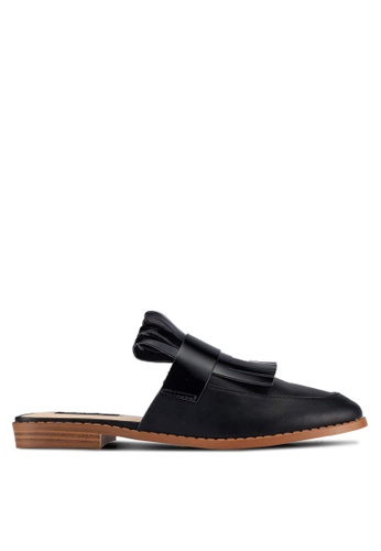 ZALORA black Patent PU Slippers C0B38ZZ7443C55GS_1