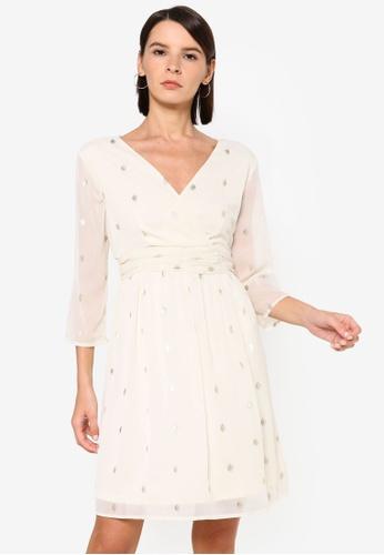 Vero Moda beige Vuma 3/4 Dress 55D9AAA64378A4GS_1