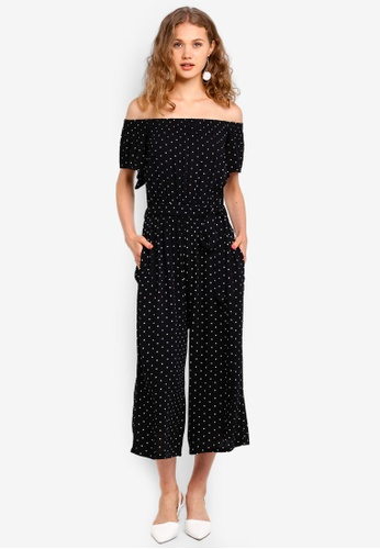 Dorothy Perkins black Black And White Spot Jumpsuit 8170AAA6B268BBGS_1