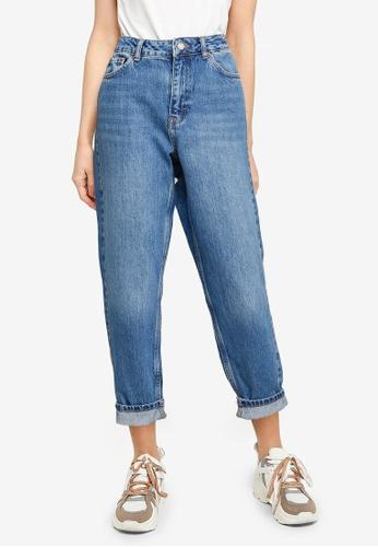 TOPSHOP blue Mid Denim Mom Jeans D2624AA71FC10CGS_1