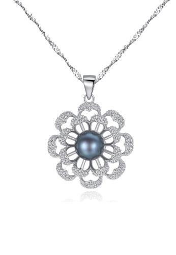 A.Excellence black Premium Black Pearl Elegant Necklace C6B86AC82C127DGS_1