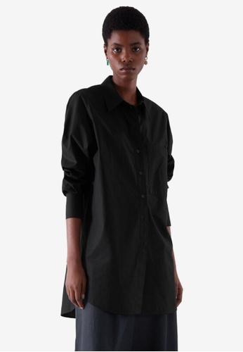 Cos black Oversized Tailored Shirt 88EE8AAE6BBC8EGS_1