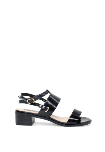 London Rag black London Rag Women Black Flat Quarter Strap Sandals C81CCSH4241F21GS_1
