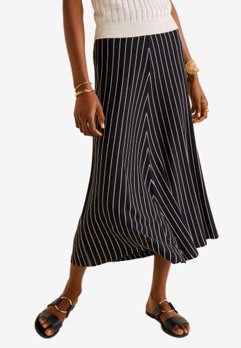 bba4524cda Jual Mango Striped Midi Skirt Original   ZALORA Indonesia ®