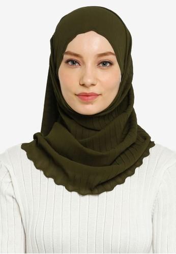 Hijabii green Lily Textured Chiffon Scarf A09BDAA055CC8CGS_1