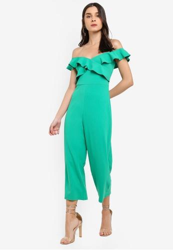 Dorothy Perkins 綠色 綠連身寬褲 6D72FAA1A2B969GS_1
