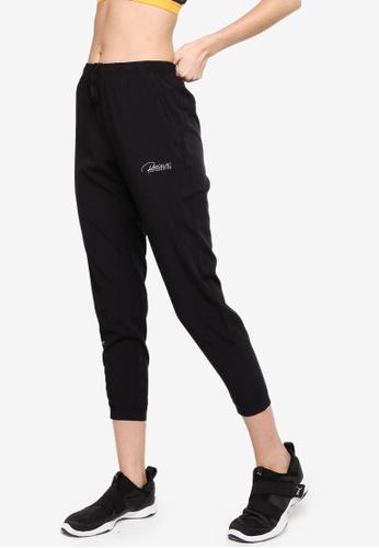 361° black Running Series Sports Cropped Pants D8B2BAAE0A0C47GS_1