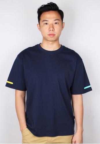 Moley navy AWESOME Oversized T-Shirt A249DAA2E0564EGS_1
