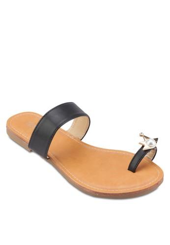 金飾夾趾涼鞋, 女esprit專櫃鞋, 鞋