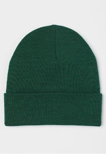 H&M green Fine-knit hat B7A6DACF7DB37DGS_1