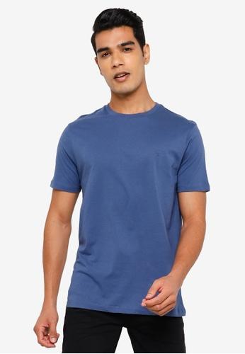 Springfield blue Basic Logo T-Shirt D6360AA19FFFC3GS_1