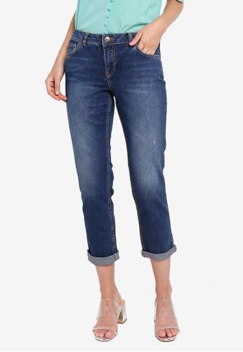 LC Waikiki blue Ankle Length Boyfriend Jeans 2C0C3AA5957F97GS_1