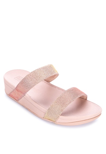 FitFlop gold Lottie Glitzy Slide Sandals D2235SH80EA3A9GS_1
