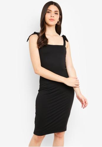 Supre black Luxe Tie Strap Bodycon Mini Dress 2456BAA1AF03D9GS_1