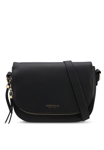 Carvela KG black Soula Day Saddle Zip Crossbody Bag 772ECACDBE118CGS_1