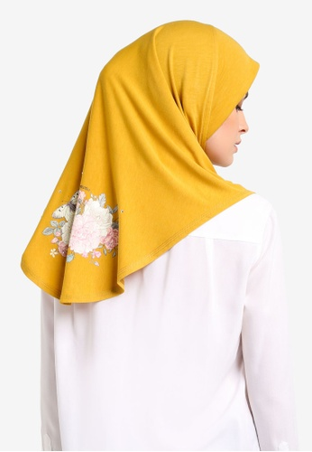 Cloverush yellow Vera Instant Scarf CL245AA0RNS6MY_1