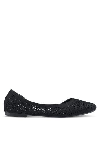 Mimosa 黑色 鏤空雕花平底鞋 F4E95SH719BA31GS_1