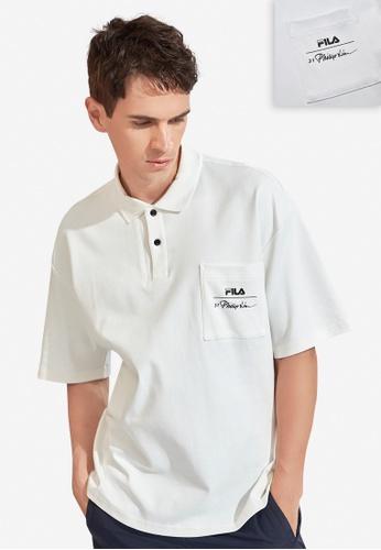 FILA white FILA x 3.1 Phillip Lim Logo Cotton Polo Shirt B861DAAC1E91ACGS_1