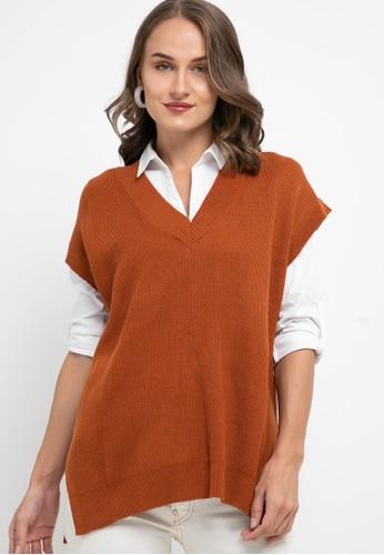 Noir Sur Blanc red Ladies Vest 28CC1AA51C436EGS_1