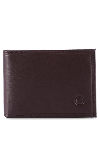 Gay Giano brown Full Grain Embossed Leather Classic Wallet 9F5CEACB1FD92AGS_1