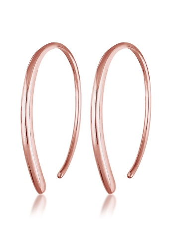ELLI GERMANY pink Elli Germany Earrings Creole Blogger Geo Basic 925 Silver Rose Gold Plated CAB53AC3226D57GS_1